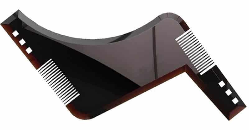 Hřeben na vousy s šablonou